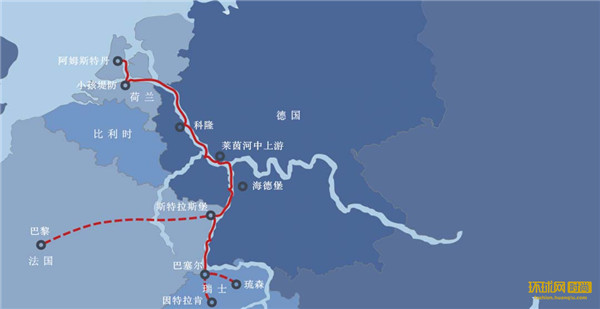 维京欧洲莱茵河游轮路线图