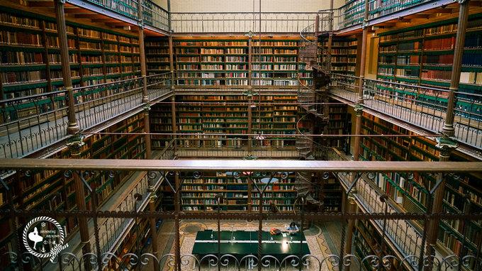 维京游轮游记荷兰国家博物馆图书馆